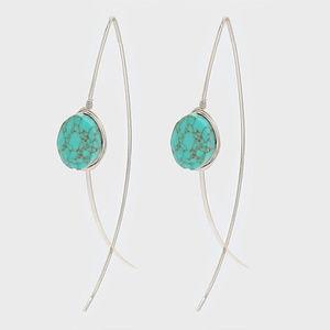 Turquoise Thread Earrings